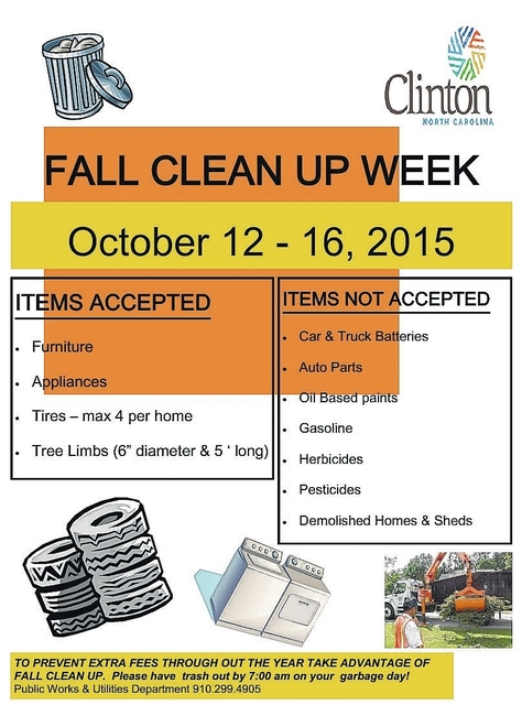 City Cleanup Set For Oct 12 16 Sampson Independent