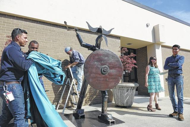 Viking unveiled at art show sampson independent for Craft shows in nc 2017